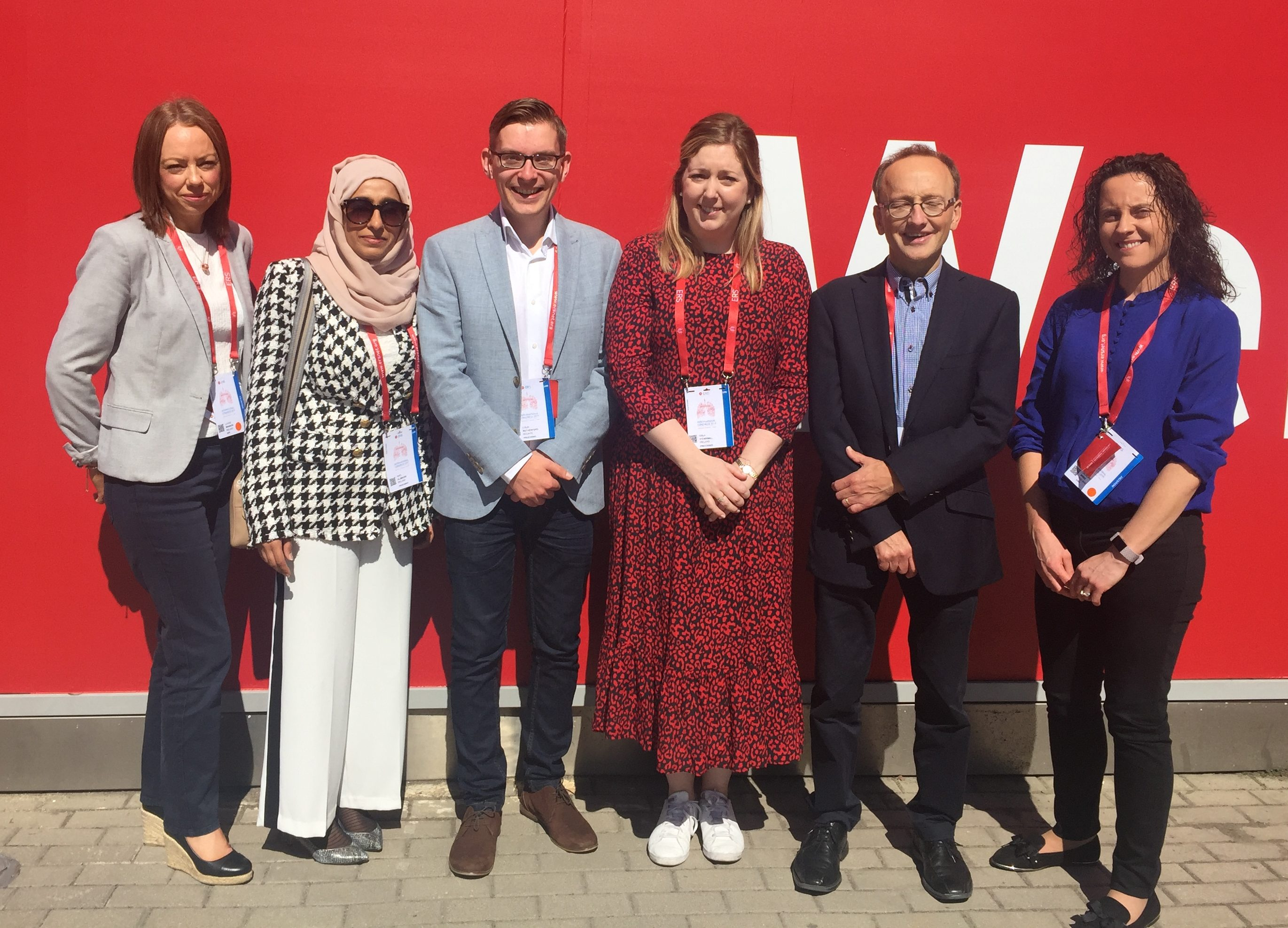 Pictured at the European Respiratory Congress in Madrid are: Ms Louise Mannion, GSK Ireland, Dr Amel Alameeri, Dr Colin Rutherford and Dr Orla O'Carroll (Bursary winners), Dr Aidan O'Brien, President, Irish Thoracic Society and Ms Deirdre Bree, GSK Ireland
